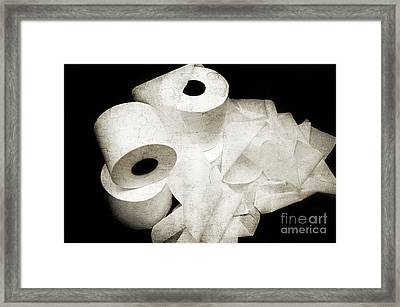 Where Is My Spare Roll Hc V3 Framed Print by Andee Design