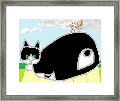 Framed Print featuring the painting Where Is The Sweet Little Airplane by Anita Dale Livaditis