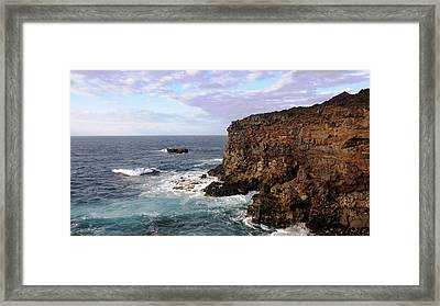 Where Land Meets Sea Framed Print by Luis and Paula Lopez