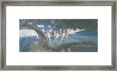 Where Rural Fays And Fairies Dwell Framed Print by Walter Jenks Morgan