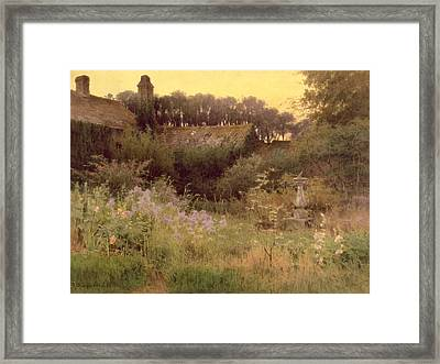 Where The Forgotten Garden Lies Asleep Framed Print
