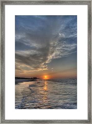 Where The Heavens Meet The Sea Framed Print