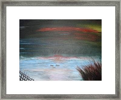Where The Life Meets The Horizon Framed Print by Prasenjit Dhar