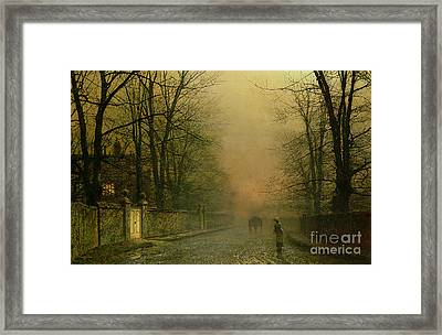 Where The Pale Moonbeams Linger  Framed Print by John Atkinson Grimshaw