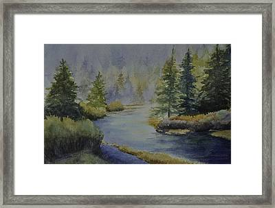Where The River Leads Framed Print by Sandy Fisher