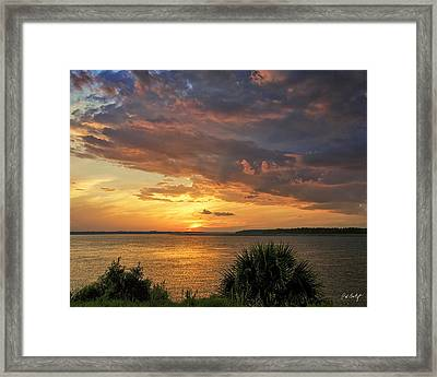Where  The River Turns Framed Print by Phill Doherty
