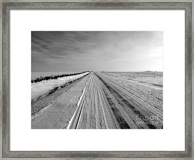 Where The Sidewalk Ends Framed Print by David Bearden