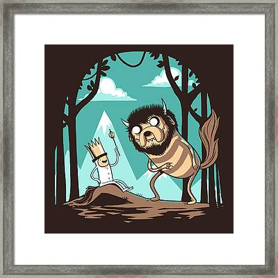 Where The Wild Adventures Are Framed Print