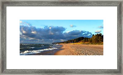 Where Water Meets Sand Framed Print