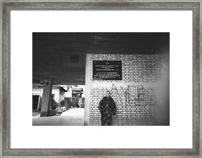 Where Your Back Is To The Wall Framed Print