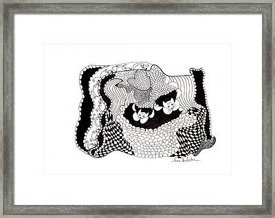 Framed Print featuring the drawing Where'd They Go? by Lou Belcher