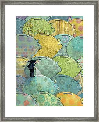Where's The Money? Framed Print by Dennis Wunsch