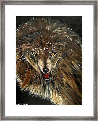 Wheres The Wolf Framed Print by Lisa Aerts