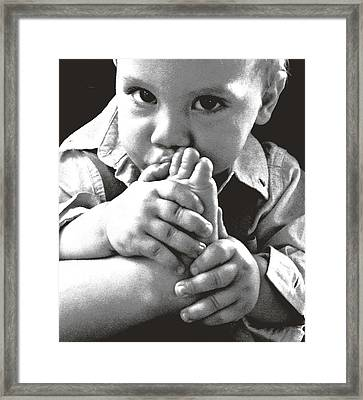 Which Thumb Framed Print by Elisia Cosentino
