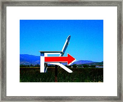 Which Way To Adirondack Framed Print by Randall Weidner