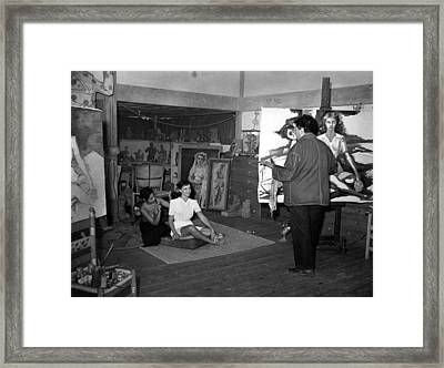 While In Mexico, Paulette Goddard Poses Framed Print by Everett