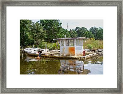 While The Captain's Away The Girls Will Play Framed Print by Betsy Knapp