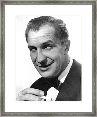While The City Sleeps, Vincent Price Framed Print by Everett