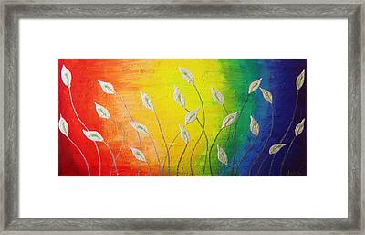 While We Dance Framed Print by Rejeena Niaz