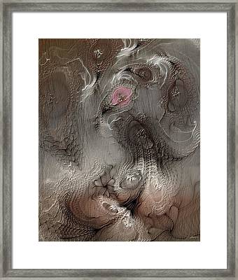 Framed Print featuring the digital art Whims Within by Casey Kotas