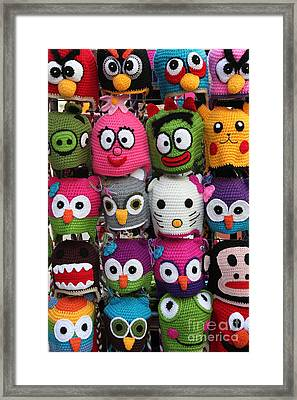 Whimsical Beanies - 5d18008 Framed Print by Wingsdomain Art and Photography