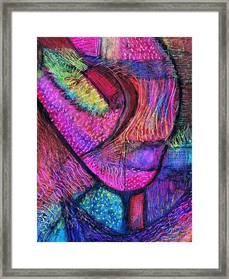 Whimsical Flurry Framed Print by Cassandra Donnelly