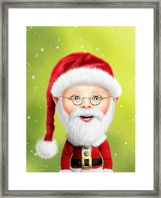 Whimsical Santa Claus Framed Print by Bill Fleming