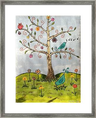 Framed Print featuring the painting Whimsical Tree by Elizabeth Coats