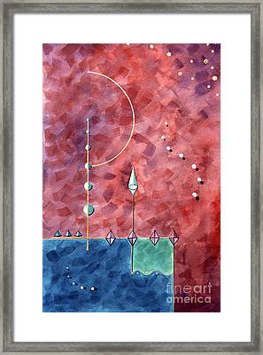 Whimsy In Flight Framed Print