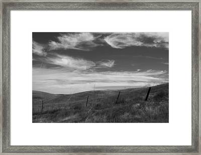Framed Print featuring the photograph Whipping Up The Hillside by Kathleen Grace