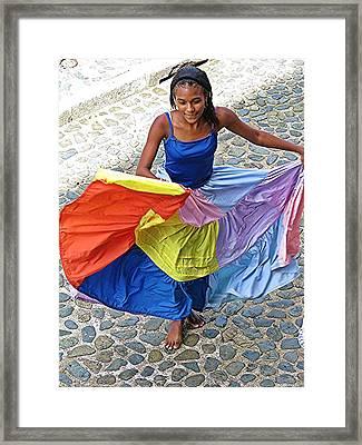 Whirl Girl Framed Print