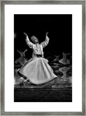 Whirling Dervish Framed Print by Okan YILMAZ