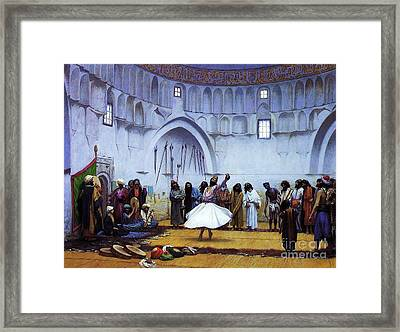 Whirling Dervishes Framed Print by Pg Reproductions