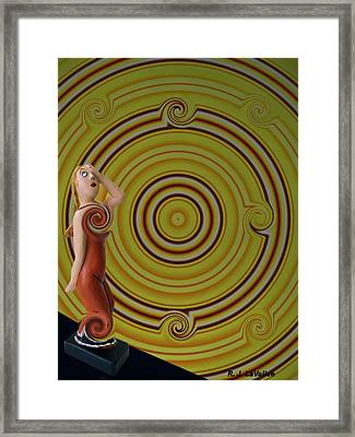 Whirlpool Confusion  Framed Print by Roland LaVallee
