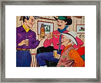 Whiskey Advertisement Framed Print by Susan Leggett