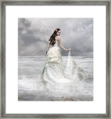 Whispered Waves Framed Print by Mary Hood