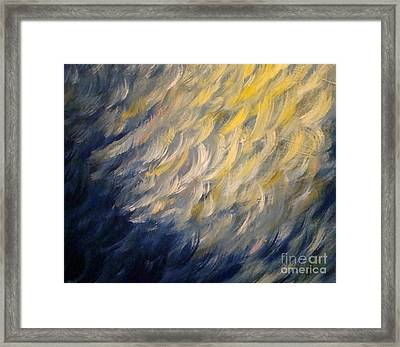 Whispered Wishes On A Starry Night Framed Print