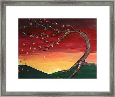 Whispering Autumn Tree Framed Print by Astrid Padilla