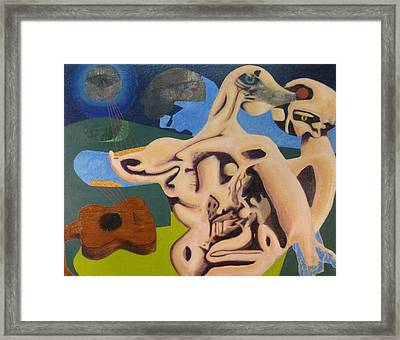Whispering The Song Of The Moon Framed Print by JC Armbruster