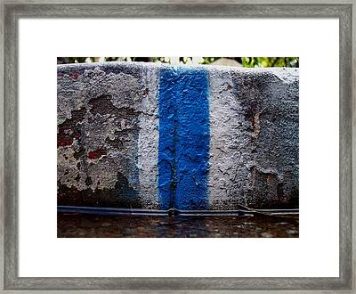 Whit Blue Curb Framed Print by Ludmil Dimitrov