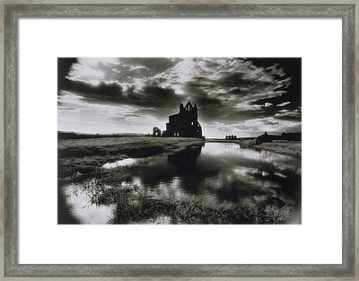 Whitby Abbey Framed Print by Simon Marsden