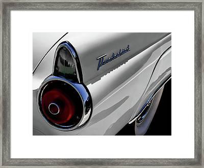 White 1955 T-bird Framed Print