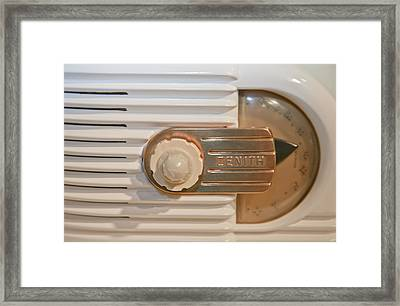White And Gold Radio Framed Print by Matthew Bamberg
