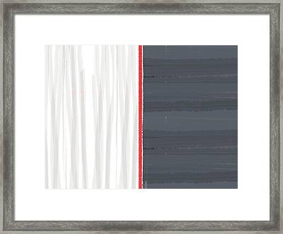 White And Grey Framed Print by Naxart Studio