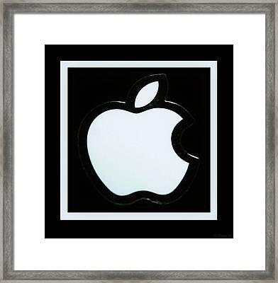 White Apple Framed Print