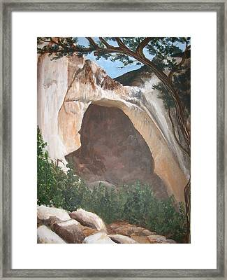 White Arch Framed Print