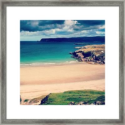 White Beach In Scotland Framed Print
