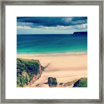 White Beach In Scotland2 Framed Print