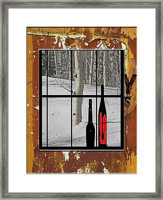 White Birch Tree - 4 Framed Print
