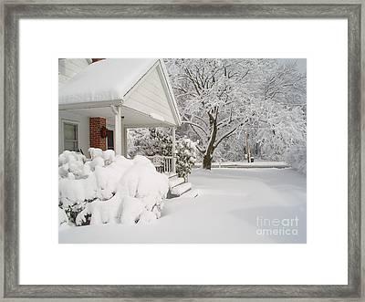 White Blanket Framed Print by Donna Cavender